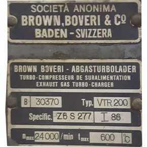 Turbo: Brown Boveri type VTR 200