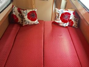 Single beds converted into double