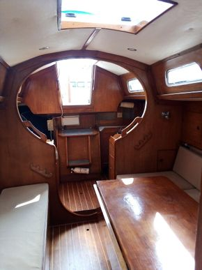 Looking aft - cabin