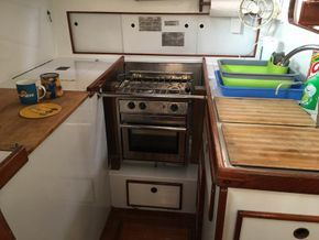 Galley with force 10 stove and oven