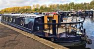 Gorgeous Tyler Wilson 61' wide beam moored at Roydon Marina Village