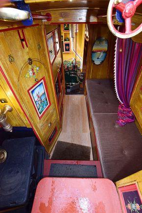 Boatmans cabin looking forward