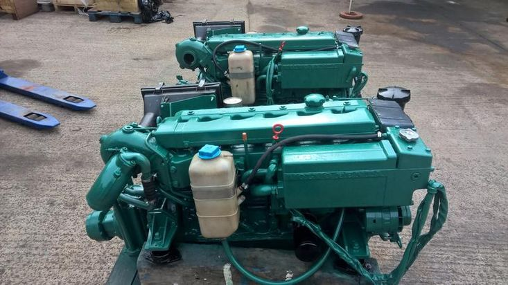 Volvo Penta TMD40A 124hp Marine Engine & Gearbox (PAIR AVAILABLE)