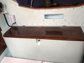 Starboard cockpit locker.