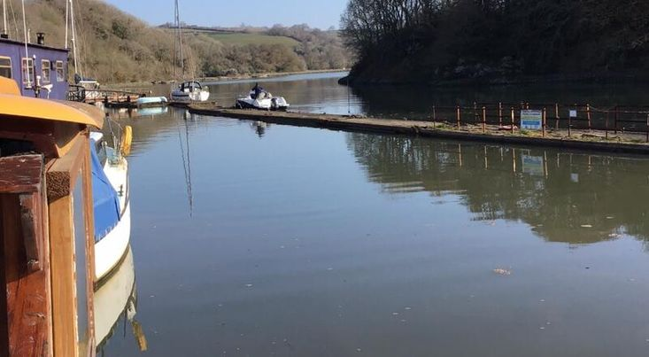 Residential River barge in Cornwall