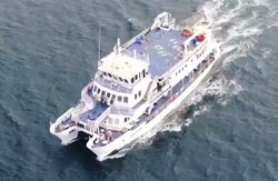 34m Cable Network and research steel catamaran vessel For Sale