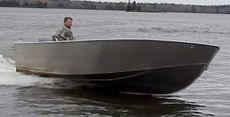 New 19′ x 8′ Aluminum Work/Fishing Tiller Boat