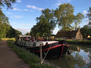 Wild moored in Central France
