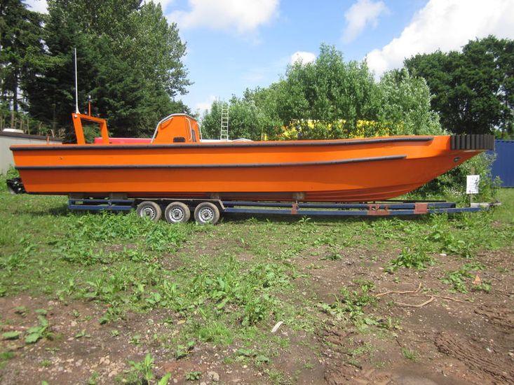 Wind farm support boat JET RIB work boat 420hp Yanmar Diesel 13M
