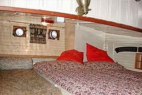 Forward double berth