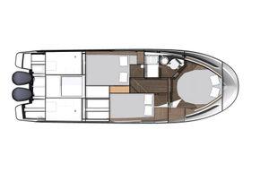 Jeanneau Merry Fisher 1095 Flybridge - layout diagram of cabins