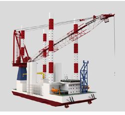 Self Elevating/ Propelled Offshore Wind Turbine Service Unit / Work/ A