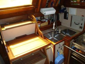 galley with work top on steps