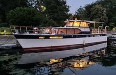 Moored Dutch Cabin Cruiser