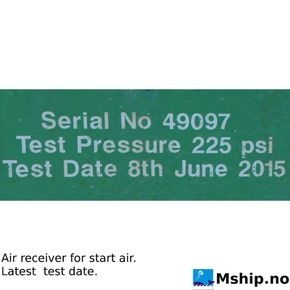 Air reciever for air starter last test date