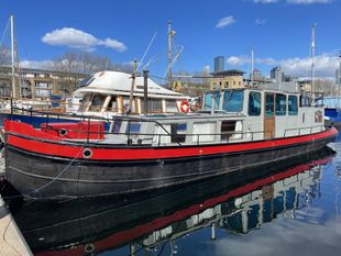 Dutch Barge on Central London Mooring