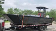New 24'6″ x 9′ Steel Work Boat w/ Wheelhouse - Built to Order
