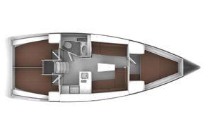 Manufacturer Provided Image: Bavaria Cruiser 37 Lower Deck Layout Plan