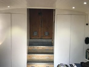 Stern cupboards and steps