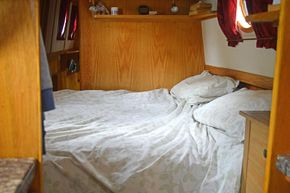 Across the boat double bed