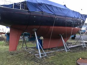rudder and keel view