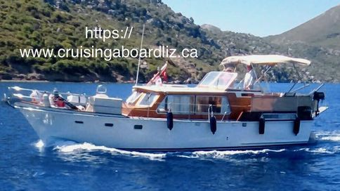 Classic steel coastal boat
