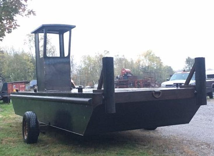 "23'6 x 8' x 30"" Steel Work Barge - Built to order"