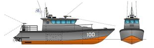 20mtr HDPE Patrol Boat