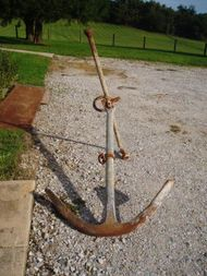 250 lb 19th Century Antique Stock Anchor
