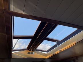 6 x 4 foot roof window above lounge
