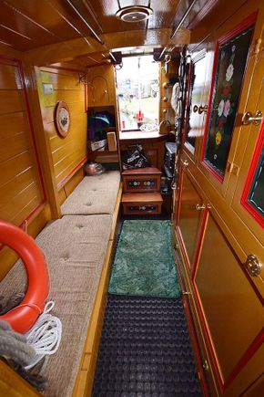 Boatmans cabin looking aft