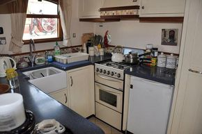 Galley with cooker and fridge