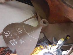 Propeller - 3 Blade  1/2 inch bore, 53 x 35 - Bruntons, right handed