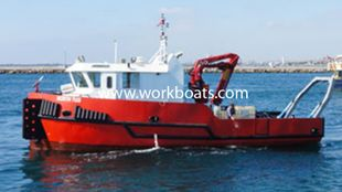 Diving Support Vessel with deck crane & A Frame