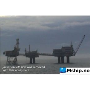 Frigg DP2 11.600 TON platform removed