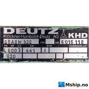 Deutz SBA 8M 528  https://mship.no