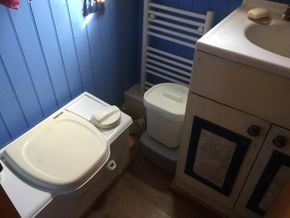 bathroom- cassette toilet and radiator
