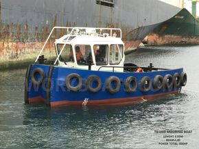 9.90 meter mooring boat with powerfull engines