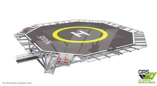 Aluminum Helideck 4,9t Helicopter Deck for Sale / #1106712