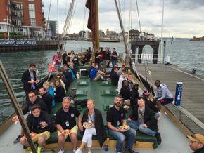 40 aboard Gun Wharf
