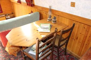 table in saloon area- this can be easily dismantled and stored away