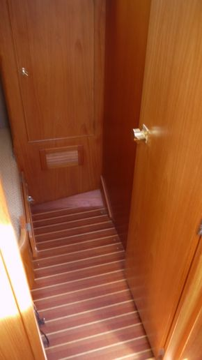 mid cabin showing wardrobe
