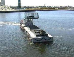 Dumpster barge