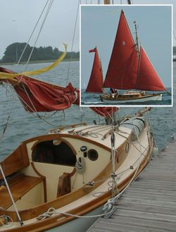 Seaotter18 Classic Sailing Gaff Yawl built by David Moss