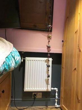 Radiator in bedroom runs of back boiler