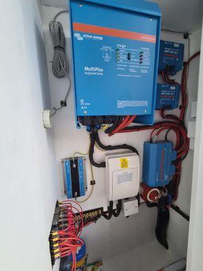 Electrics cupboard inside