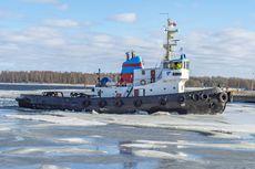 Vintage ice breaking tug Harald.