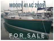 Moody 41 AC for sale in Rebak Marina, Langkawi.