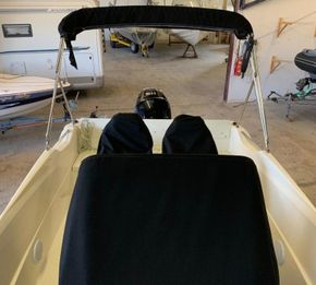 Custom Console & seat covers (for sale through Rock Marine Services Ltd)