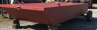 """New 20' x 8' x 30"""" Steel Barge - Built to Order"""